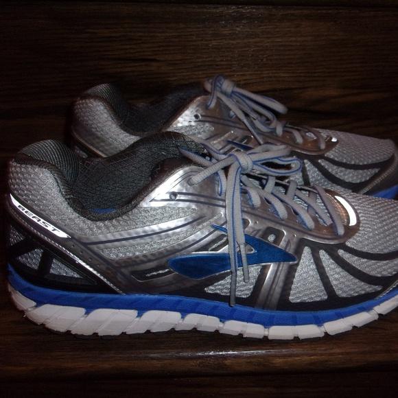 749d42bb13871 Brooks Other - Mens Brooks Beast 16 Silver Blue Running Shoes 12